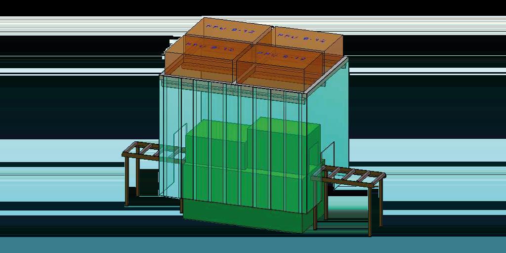 Reinraumsystem in Ausbaustufe 1 von 10