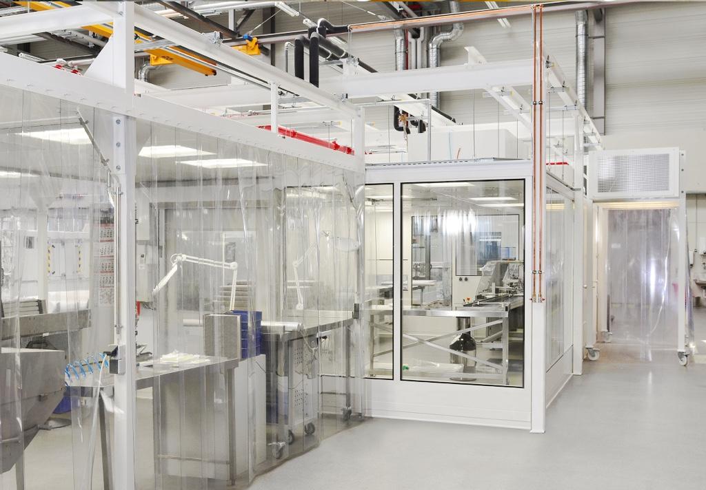 Reinraumsystem CleanoFlex von bc-technology