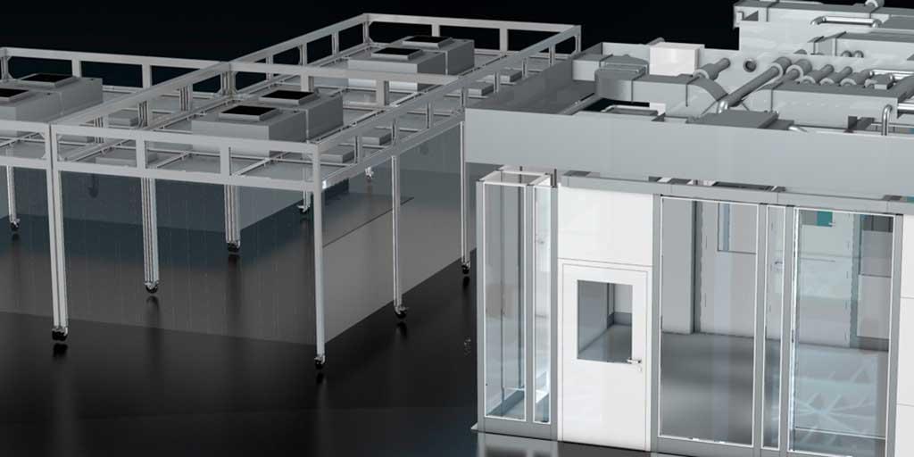 Reinraumkabinen und CleanoFlex-Systeme