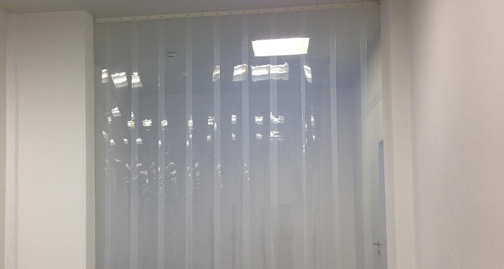 Reinraumvorhang: antistatischer Streifenvorhang